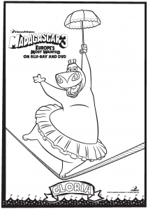 Coloring page madagascar for children