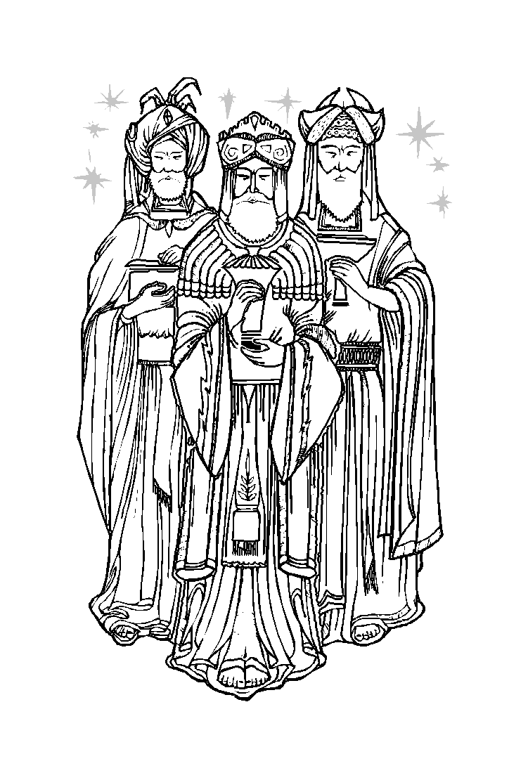 Beautiful Magi coloring page to print and color