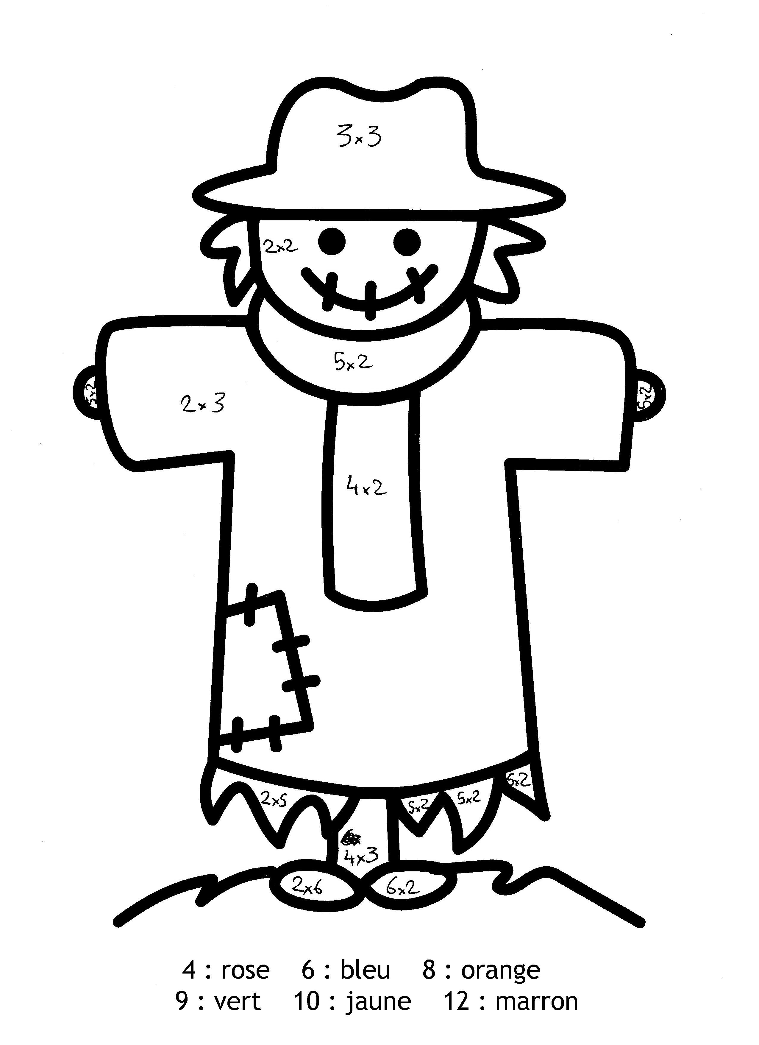 Magic free to color for children : scarecrow - Magic ...