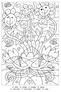 Coloring page magic coloring to print for free : cute flowers