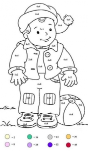 Coloring page magic coloring for kids : little boy