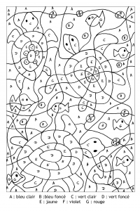 Coloring page magic coloring to color for children : turtles
