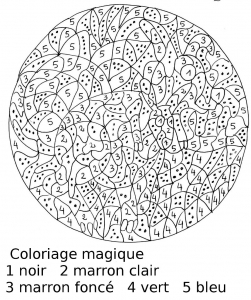 Coloring page magic coloring for children