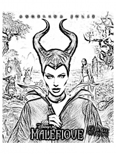 Coloring page maleficient for kids