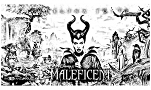 Coloring page maleficient to print
