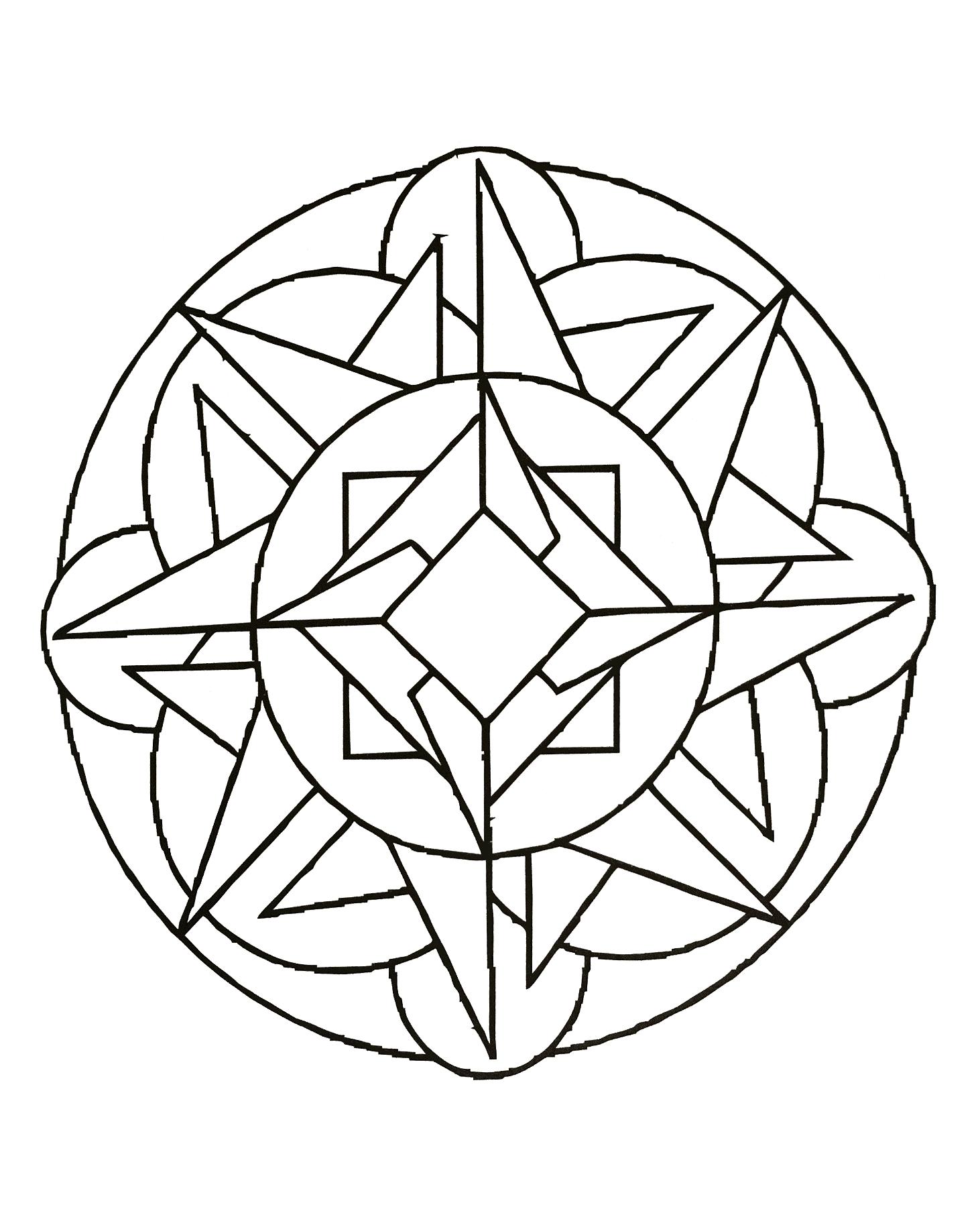 Mandalas for kids - Mandalas Kids Coloring Pages