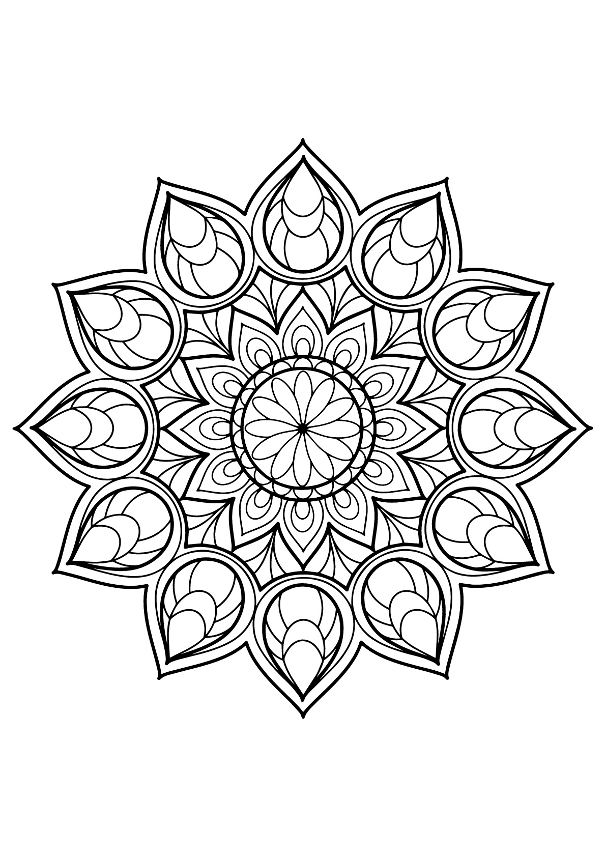 Mandalas free to color for kids