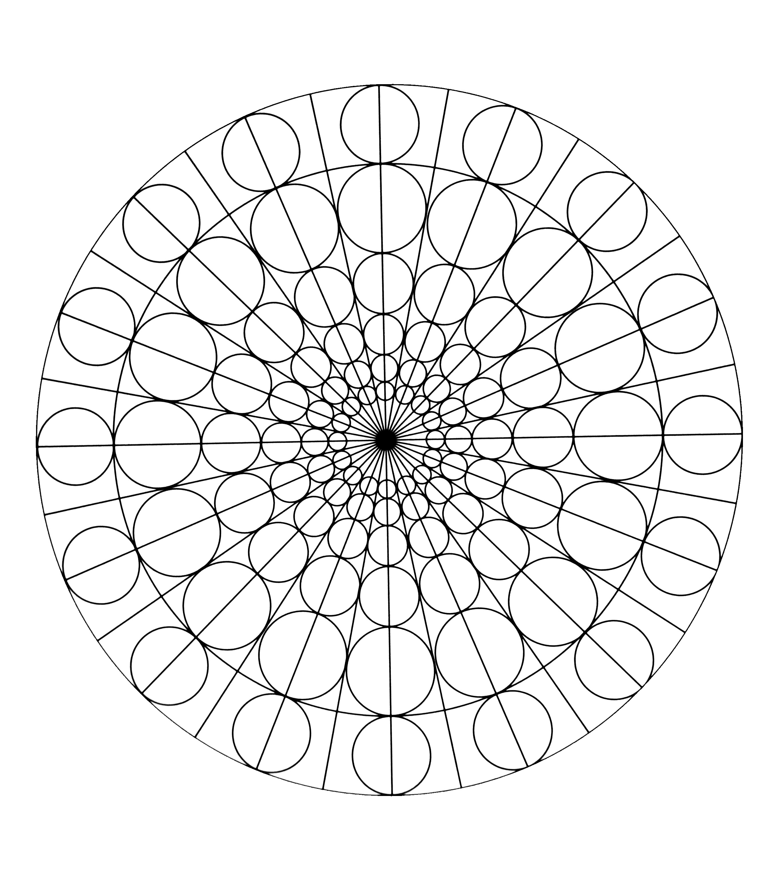 Funny Mandalas coloring page for kids