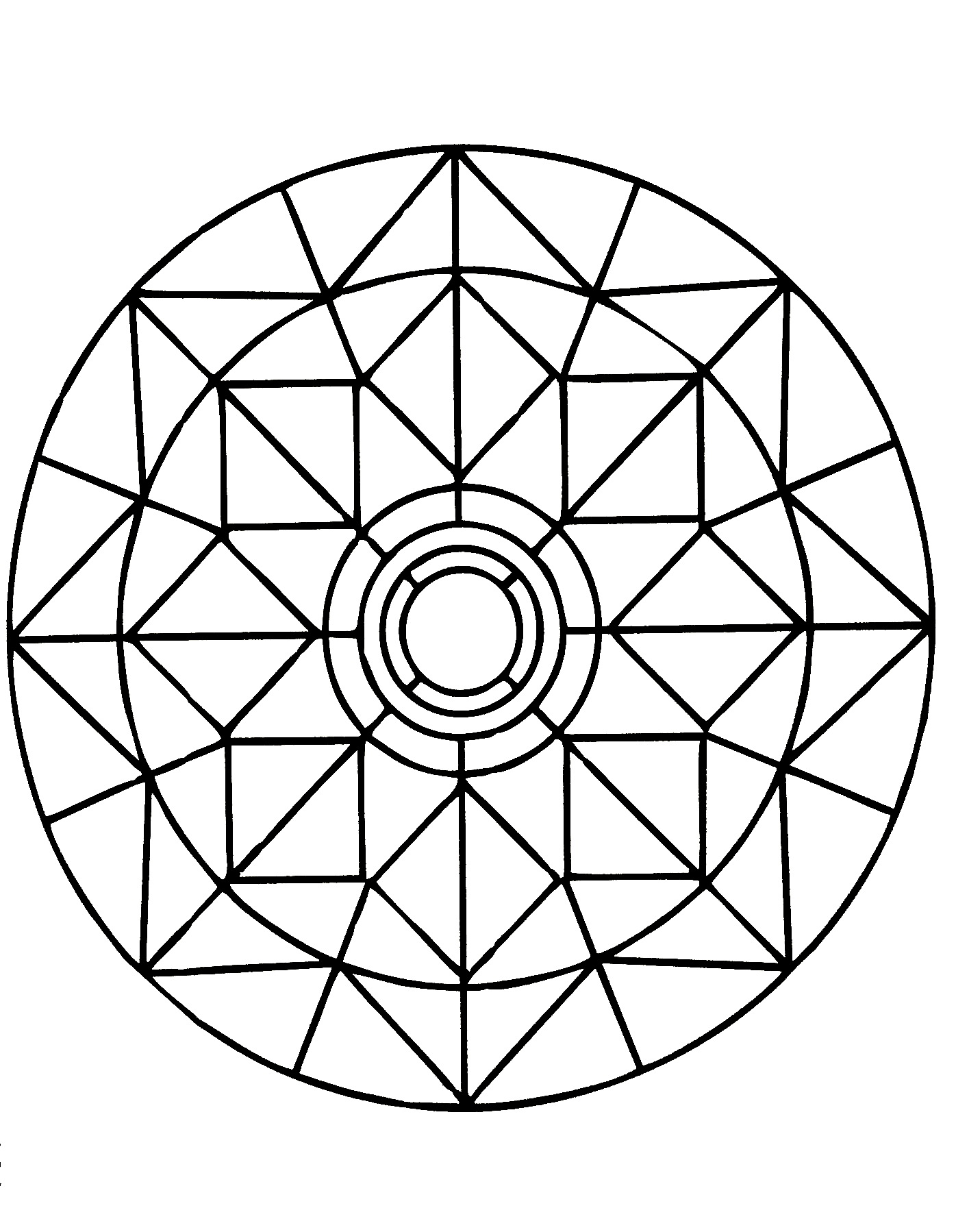 Simple Mandalas coloring page to print and color for free