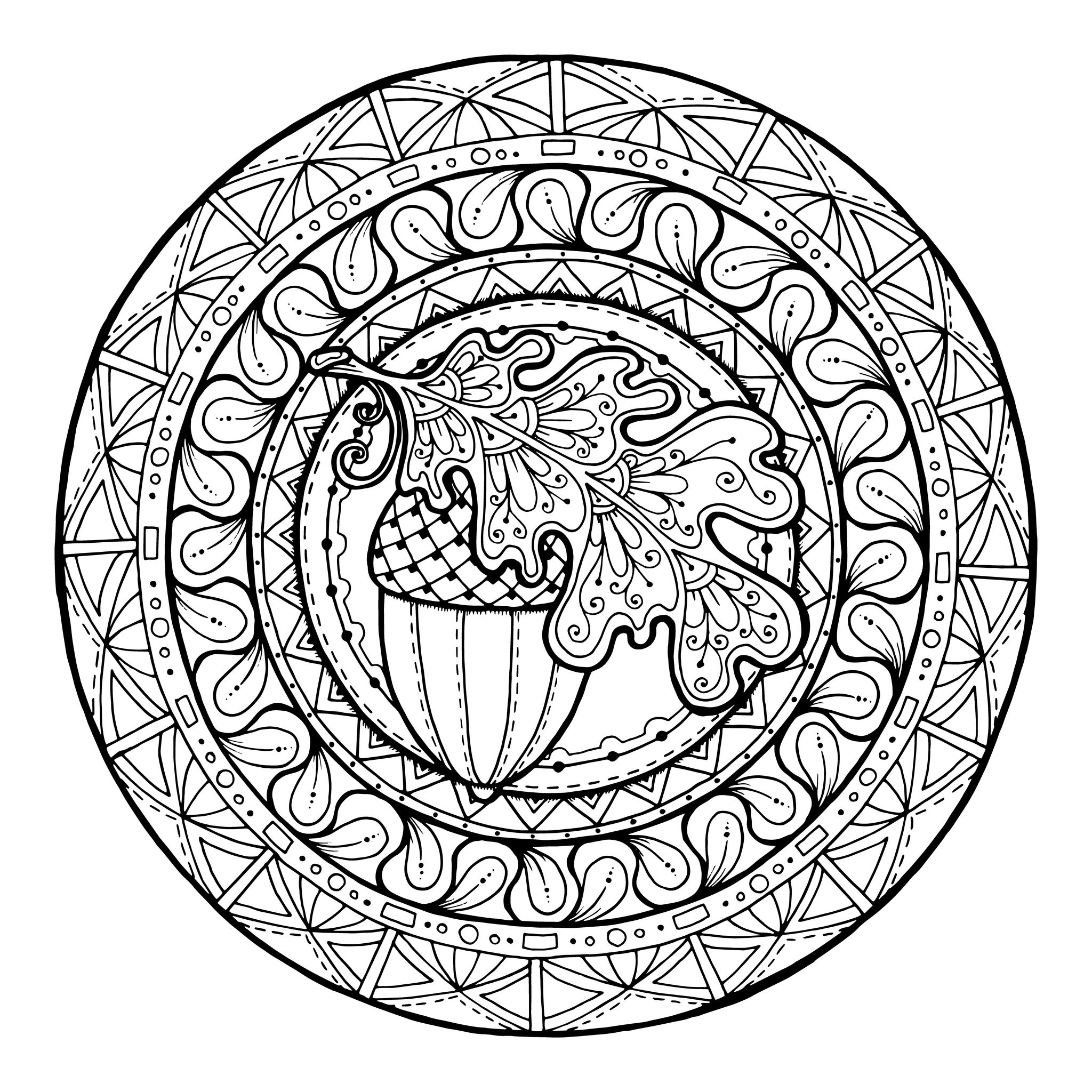 Mandalas coloring page to download