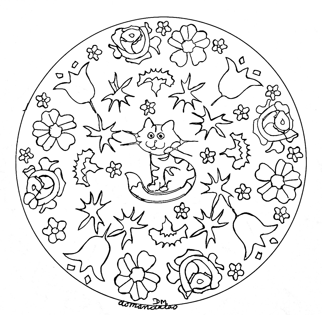 - Mandalas Free To Color For Children - Mandalas Kids Coloring Pages
