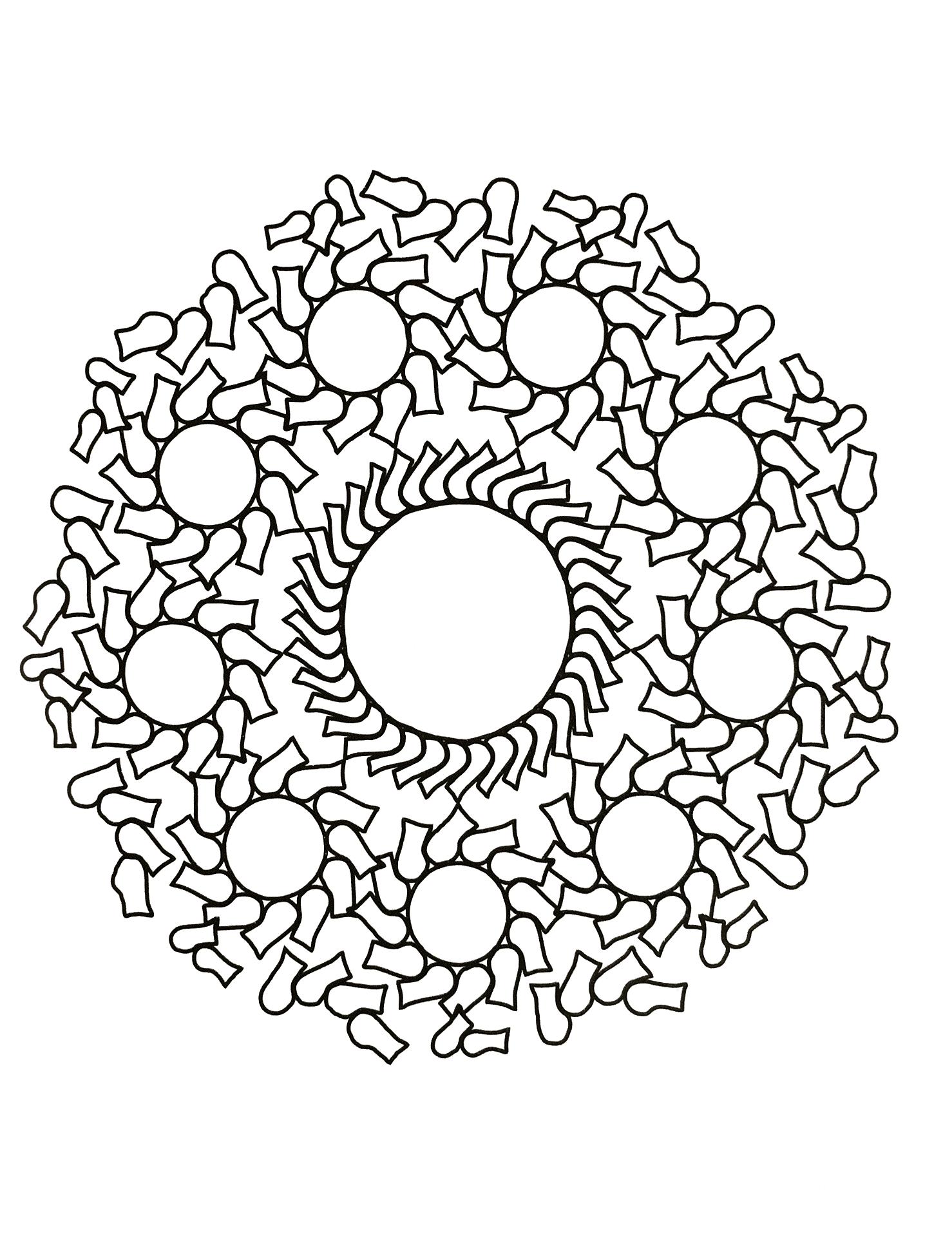 Beautiful Mandalas coloring page to print and color