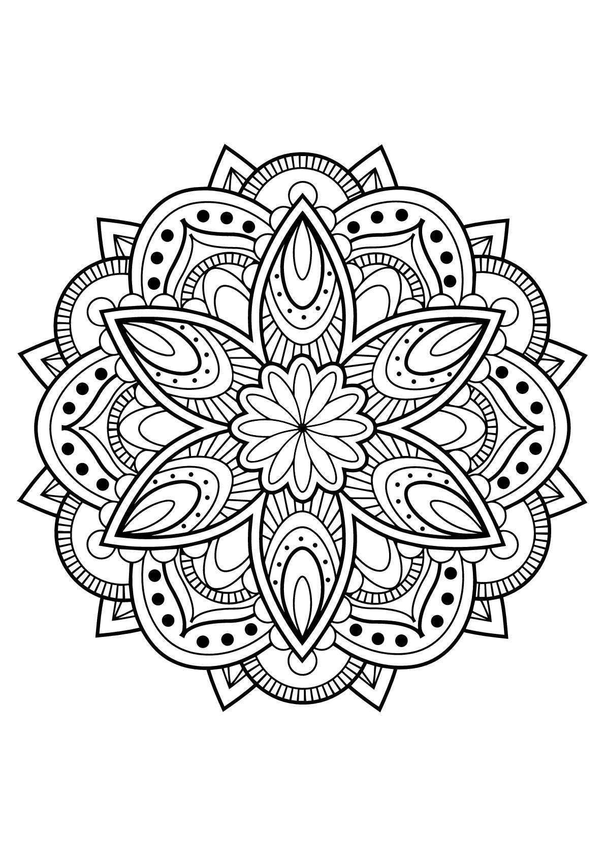 Mandalas to color for children - Mandalas Kids Coloring Pages