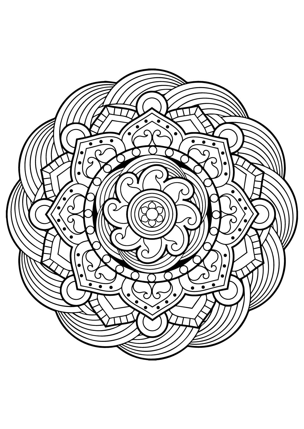 printable indian mandalas coloring pages - photo#7