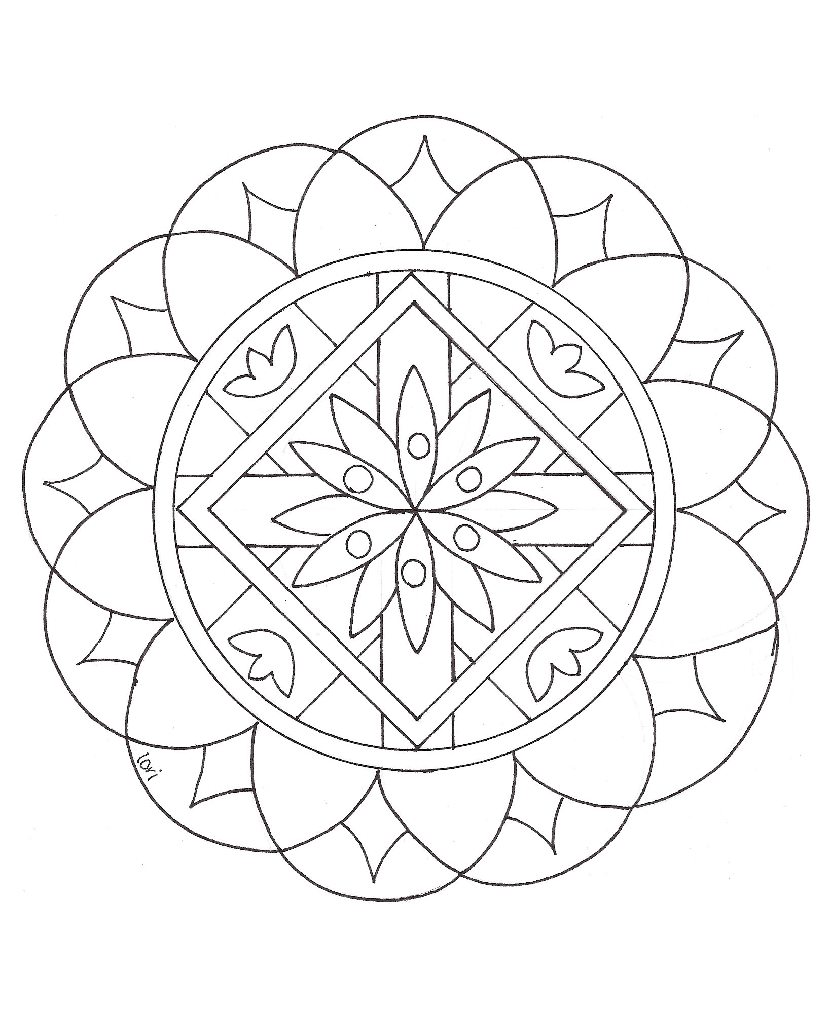 Mandalas to color for children - Mandalas Kids Coloring Pages