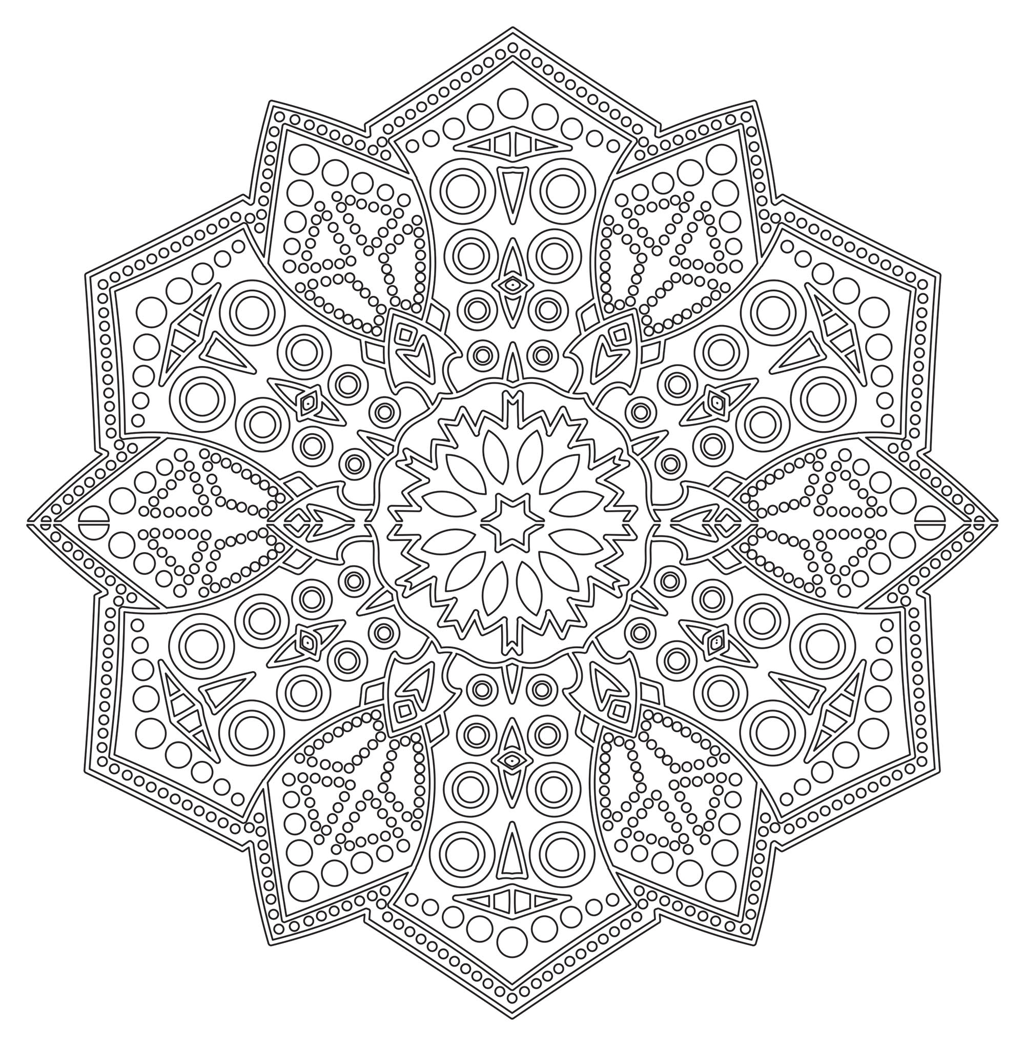 Incredible Mandalas coloring page to print and color for free