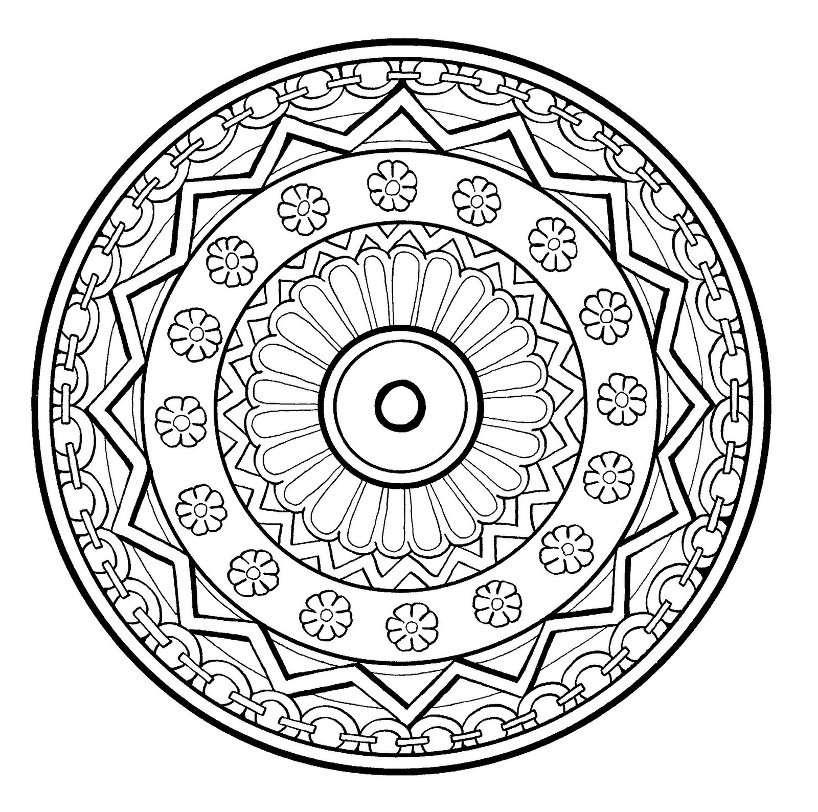 printable indian mandalas coloring pages - photo#25