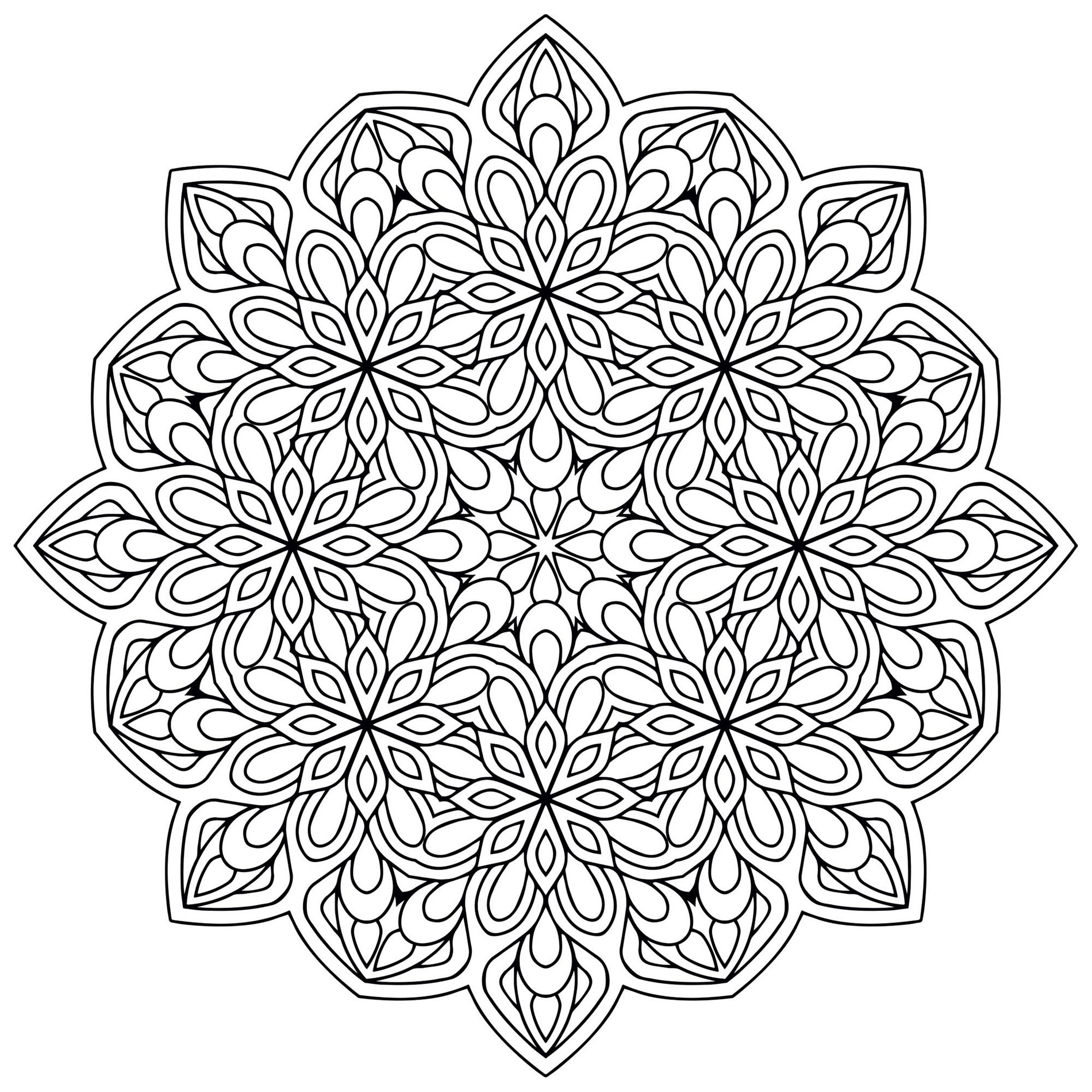printable indian mandalas coloring pages - photo#46