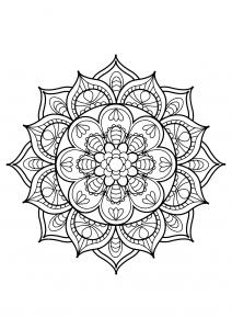 Coloring page mandalas to print