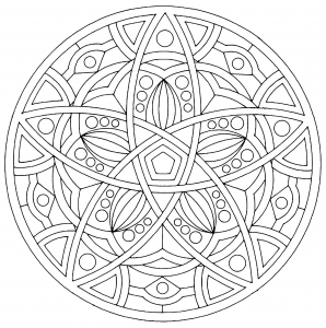 Coloring page mandalas free to color for kids