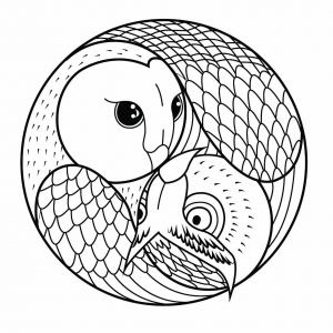 Coloring page mandalas to download