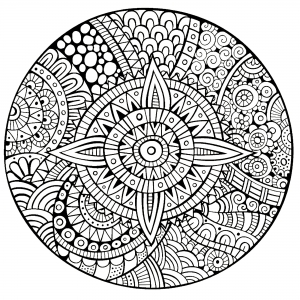 Coloring page mandalas for children