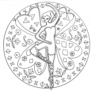 Coloring page mandalas free to color for children