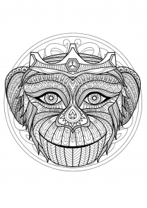 Mandalas Coloring pages for kids