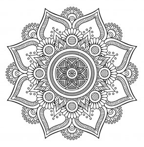 Coloring page mandalas to color for children