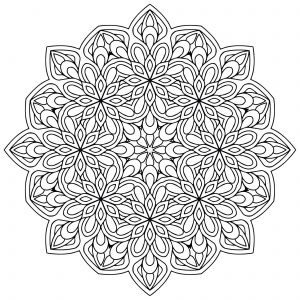 Coloring page mandalas to print for free