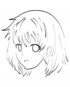 Coloring page manga free to color for children