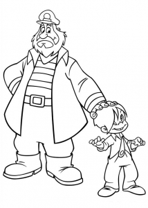 Coloring page marcelino for kids