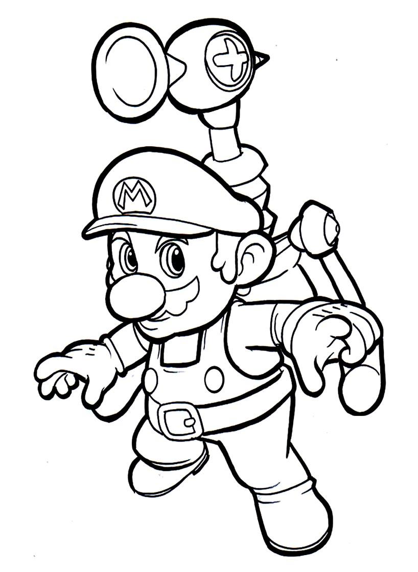 Coloriage Waluigi.Mario Mario Bros Kids Coloring Pages