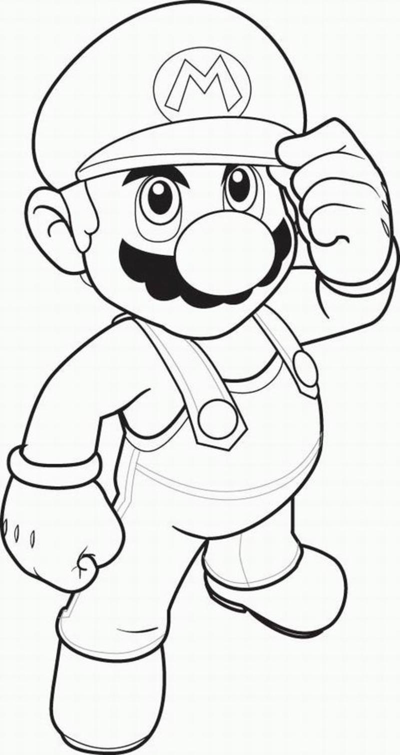 Mario Bros coloring page to download for free : Mario
