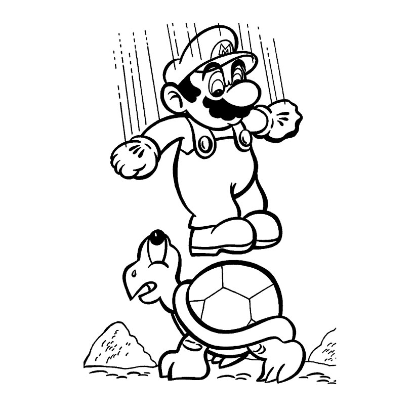 - Mario - Mario Bros Kids Coloring Pages