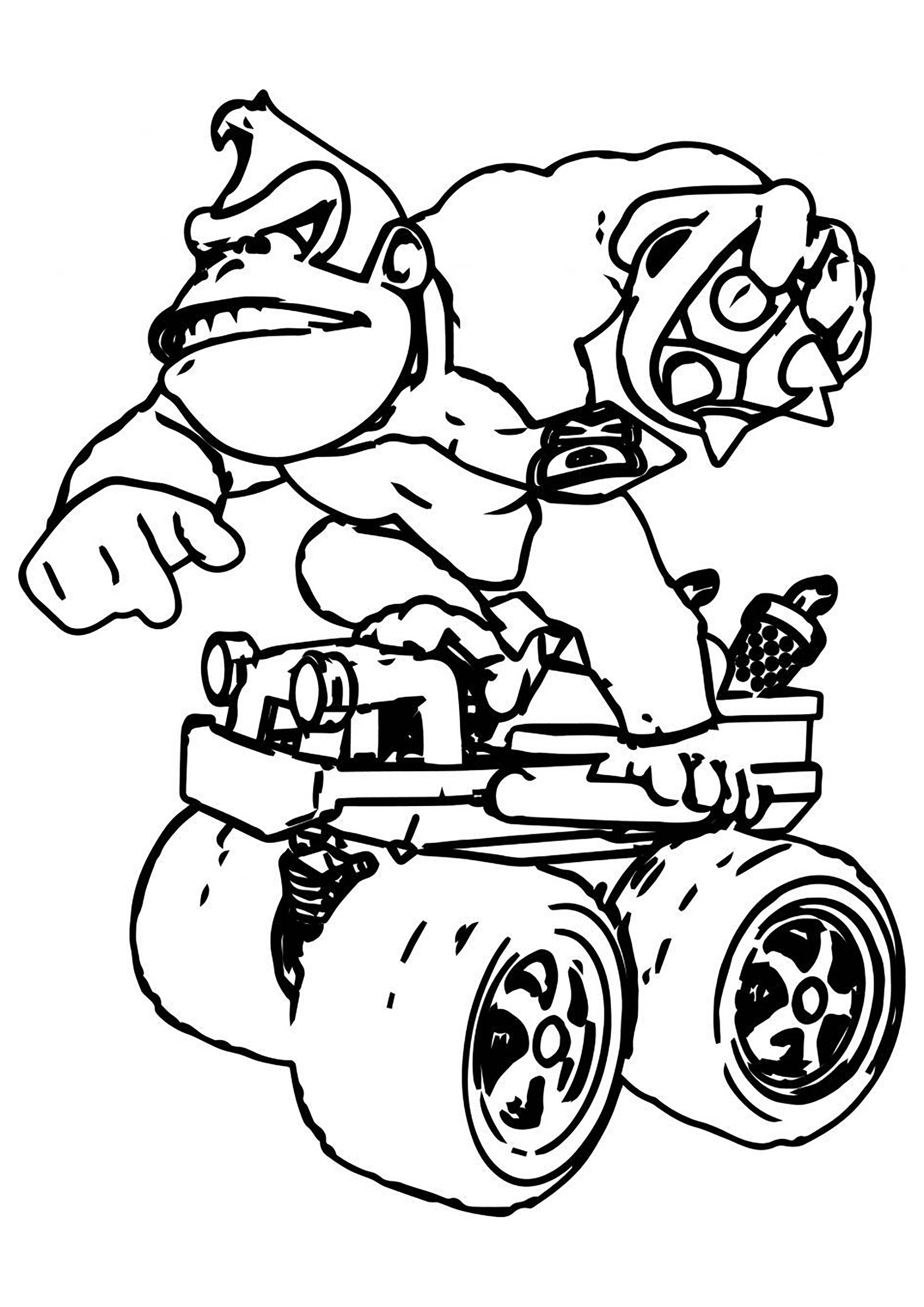 Donkey Kong Mario Bros Kids Coloring Pages