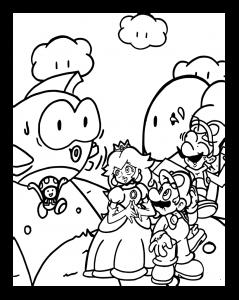 Mario with , Princess and Luigi