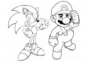 Mario Bros Free Printable Coloring
