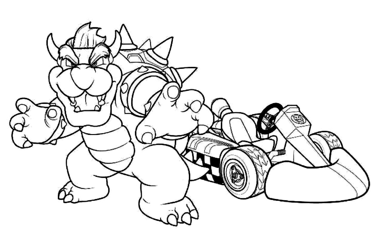 Mario kart to print for free Mario Kart Kids Coloring Pages