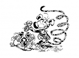 Coloring page marsupilami to color for kids