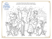 Mary Poppins returns Coloring Pages for Kids