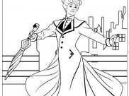 Mary Poppins Coloring Pages for Kids