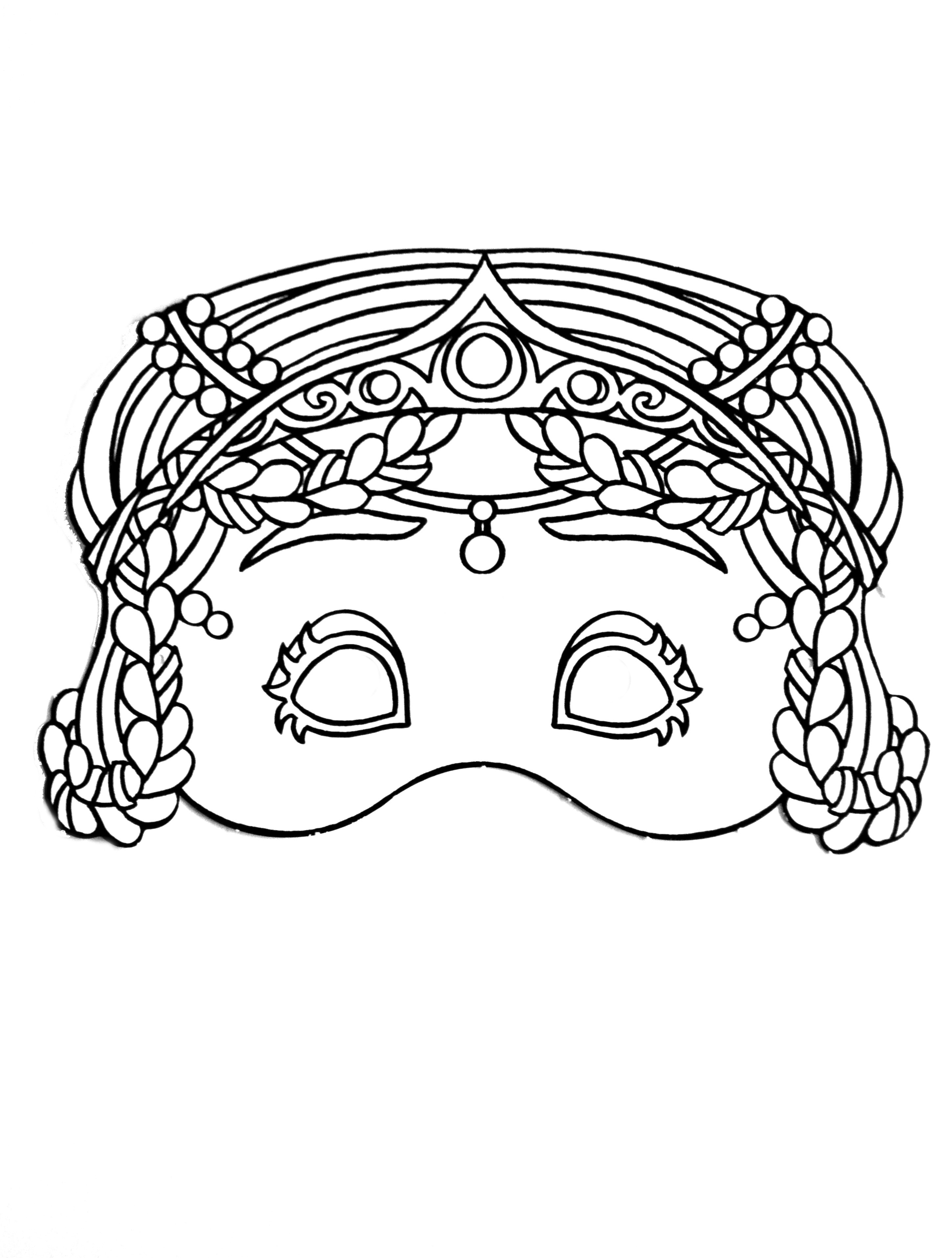 Simple Masks coloring page for kids