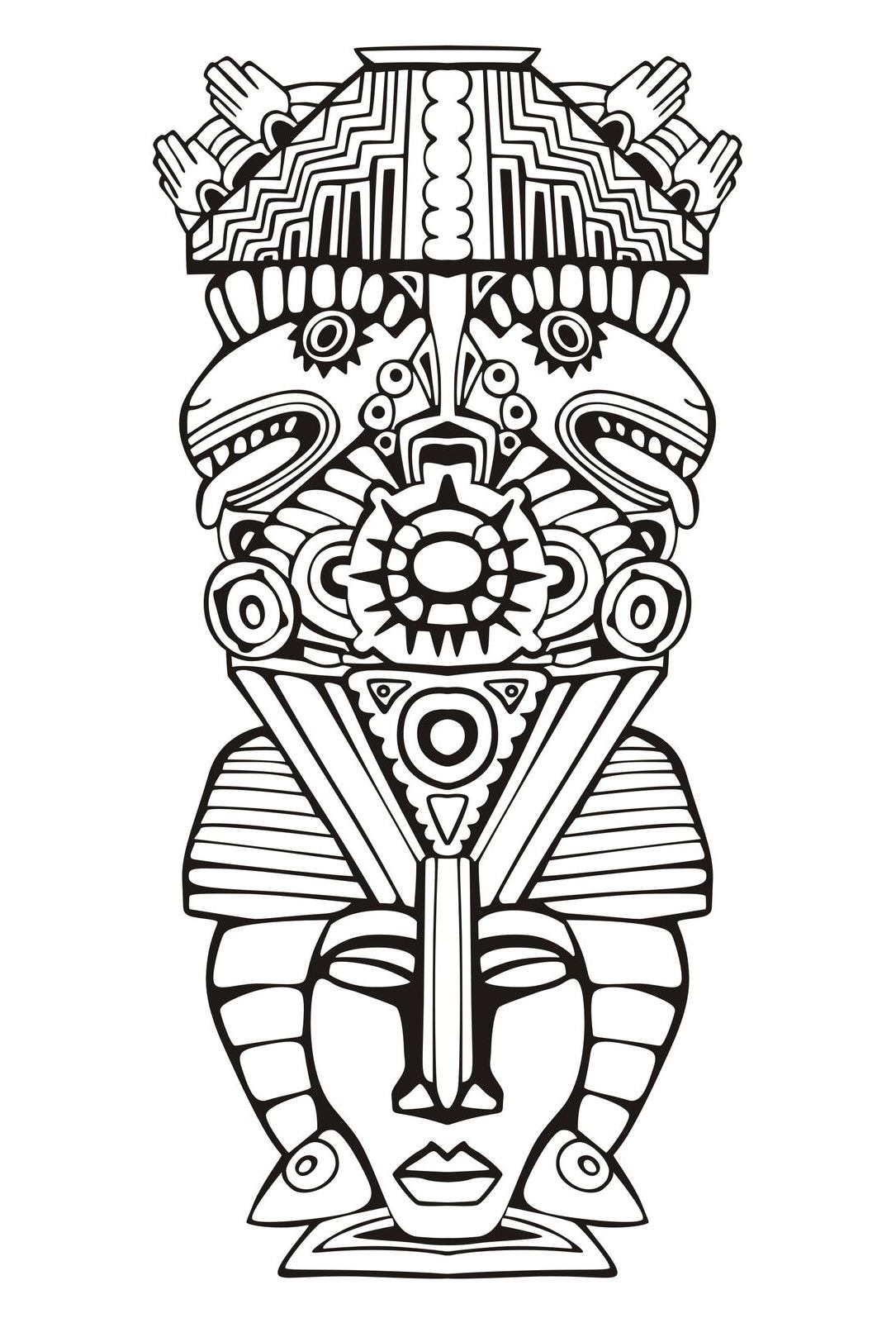 Incredible Masks coloring page to print and color for free