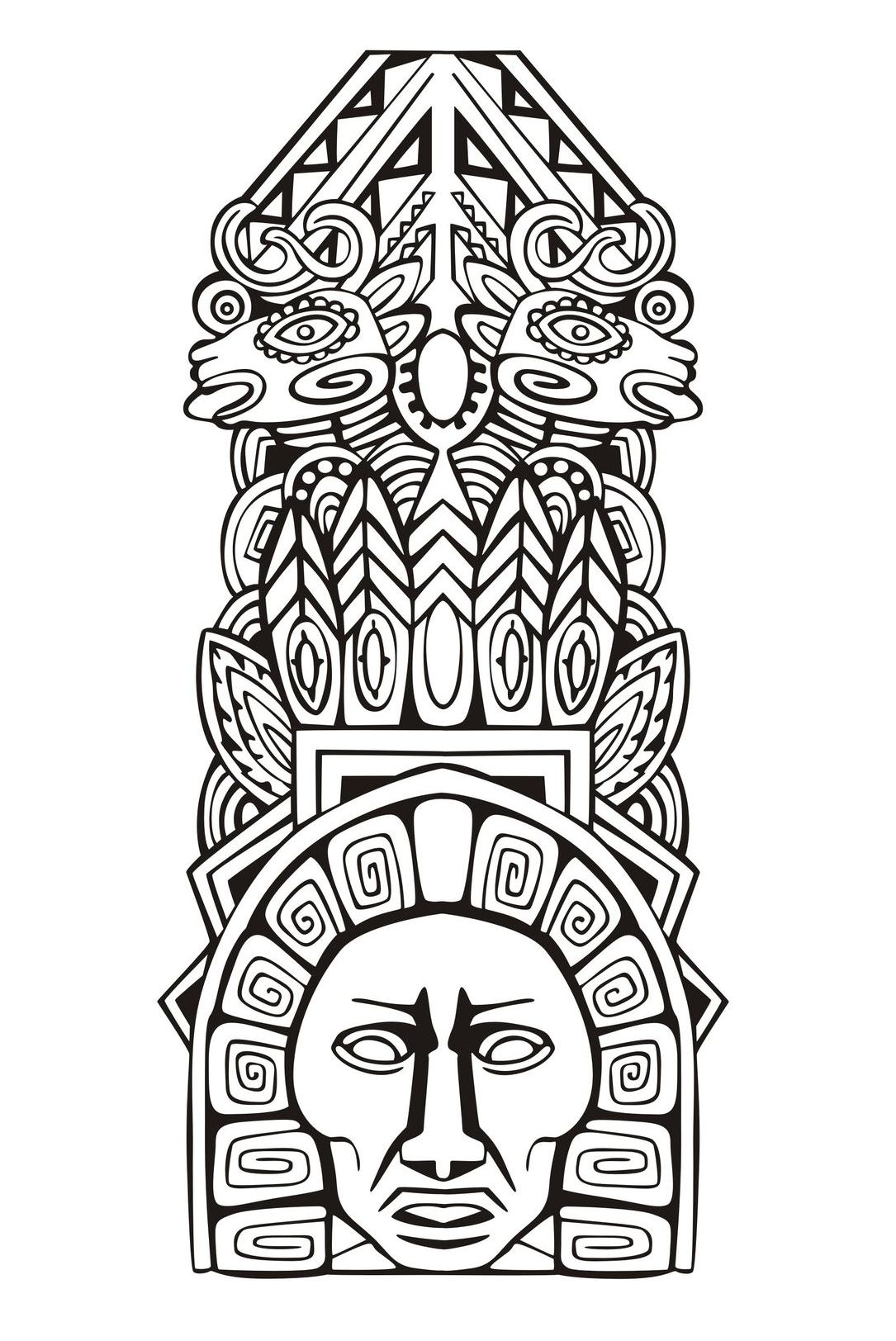 Masks coloring page to download for free