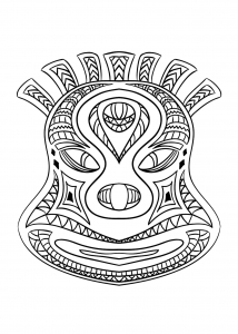 Coloring page masks to download