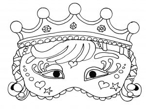 Coloring page masks for children