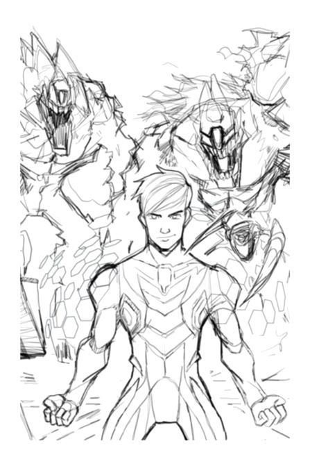 Funny Max Steel coloring page