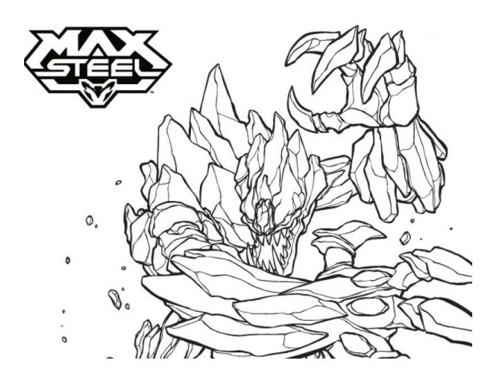 Max Steel coloring page with few details for kids