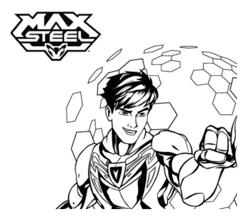 Max Steel To Color For Children Max Steel Kids Coloring Pages